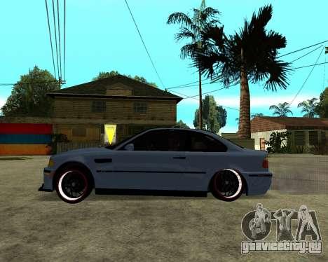BMW M3 Armenian для GTA San Andreas вид сзади