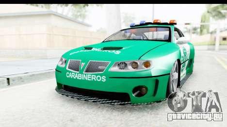 Pontiac GTO 2006 Carabineros De Chile для GTA San Andreas вид справа