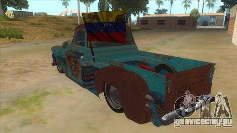 Chevrolet Apache для GTA San Andreas вид сзади слева