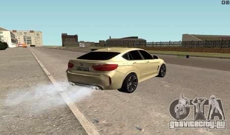 BMW X6M Bulkin для GTA San Andreas вид сзади слева
