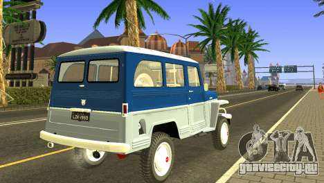 Jeep Station Wagon 1959 для GTA San Andreas вид справа