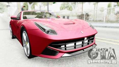 Ferrari F12 Berlinetta 2014 для GTA San Andreas вид изнутри