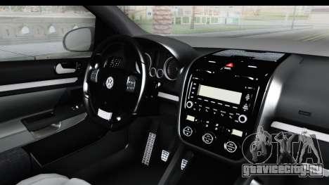 Volkswagen Golf 5 Stock для GTA San Andreas вид сзади слева