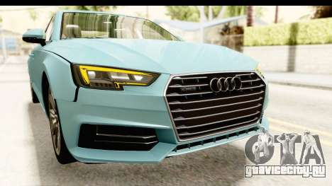 Audi A4 TFSI Quattro 2017 для GTA San Andreas вид сверху