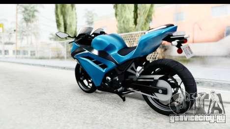 Kawasaki Ninja 300R для GTA San Andreas вид слева