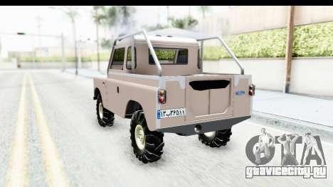 Land Rover Pickup Series3 для GTA San Andreas вид сзади слева