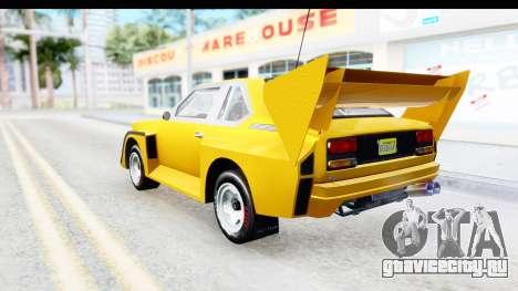 GTA 5 Obey Omnis IVF для GTA San Andreas вид слева