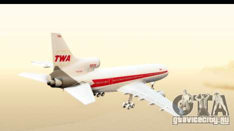 Lockheed L-1011-100 TriStar Trans World Airlines для GTA San Andreas вид справа