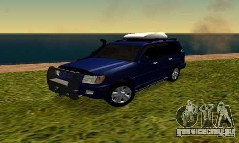 Toyota Land Cruiser 100vx2 для GTA San Andreas вид слева