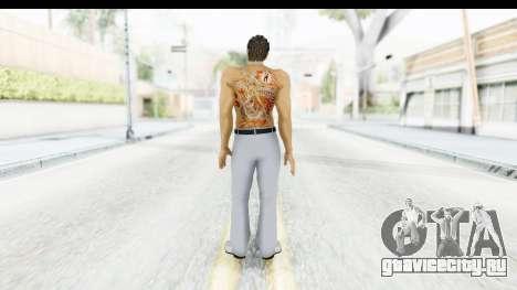 Yakuza 5 Kazuma Kiryu Topless Tatoo для GTA San Andreas третий скриншот