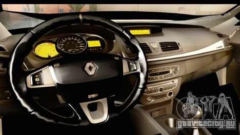 Renault Fluence v2 для GTA San Andreas вид изнутри