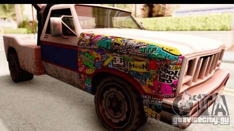 Towtruck Sticker Bomb для GTA San Andreas вид сзади