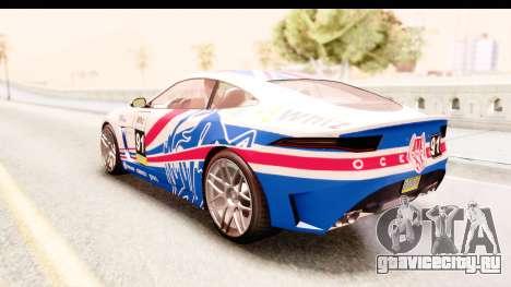 GTA 5 Ocelot Lynx для GTA San Andreas вид снизу