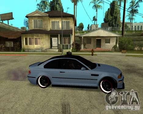 BMW M3 Armenian для GTA San Andreas вид сзади слева