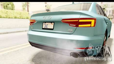 Audi A4 TFSI Quattro 2017 для GTA San Andreas салон
