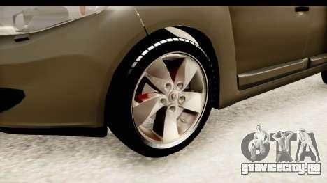 Renault Fluence v2 для GTA San Andreas вид сзади