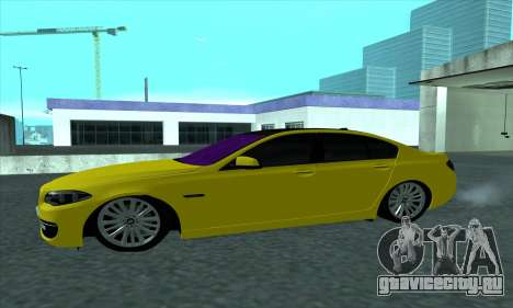BMW 525 Gold для GTA San Andreas вид слева