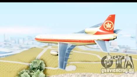 Lockheed L-1011-100 TriStar Air Canada для GTA San Andreas вид слева