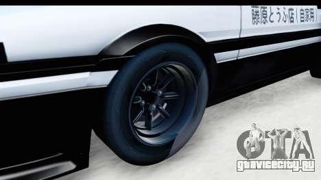NFS 2015 Toyota AE86 для GTA San Andreas вид сзади