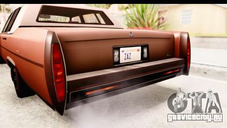 GTA 5 Albany Emperor SA Style для GTA San Andreas вид изнутри
