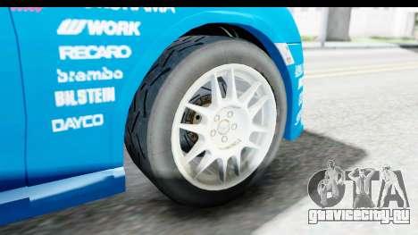 Subaru BRZ Rally для GTA San Andreas вид сзади