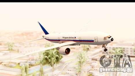 Boeing 777-200LR Philippine Airline Retro Livery для GTA San Andreas вид сзади слева