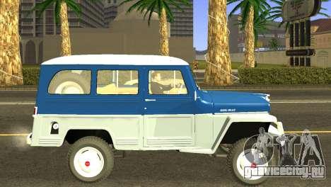 Jeep Station Wagon 1959 для GTA San Andreas вид сзади слева