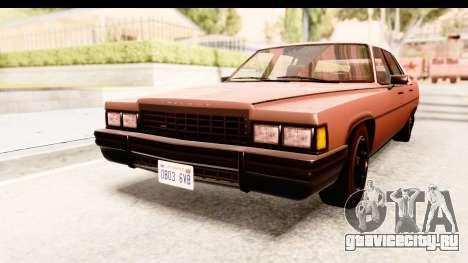 GTA 5 Albany Emperor SA Style для GTA San Andreas вид сзади слева