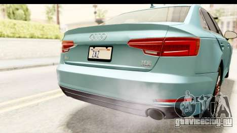 Audi A4 TFSI Quattro 2017 для GTA San Andreas вид снизу