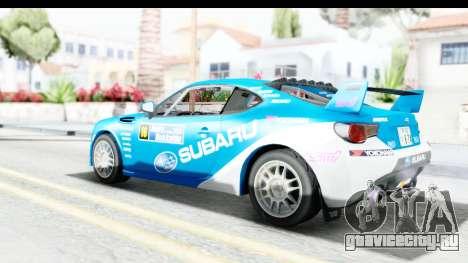 Subaru BRZ Rally для GTA San Andreas вид слева