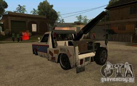 Новый эвакуатор для GTA San Andreas вид сзади слева