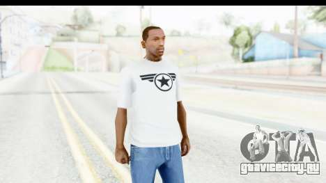 Captain America White T-Shirt для GTA San Andreas второй скриншот