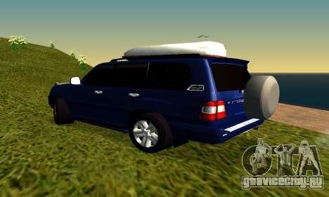 Toyota Land Cruiser 100vx2 для GTA San Andreas вид справа