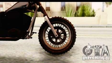 GTA 5 Western Cliffhanger Custom v1 для GTA San Andreas вид сзади