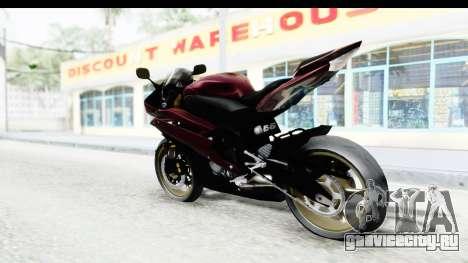 Yamaha YZF-R6 2008 для GTA San Andreas вид слева