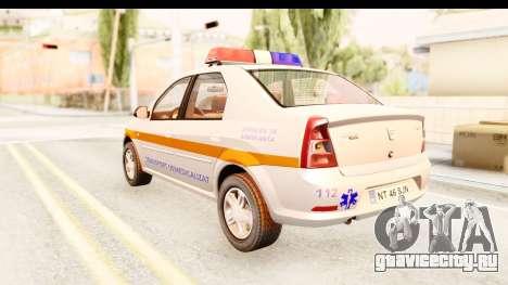 Dacia Logan Facelift Ambulanta v2 для GTA San Andreas вид слева