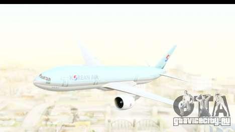 Boeing 777-200ER Korean Air для GTA San Andreas вид сзади слева