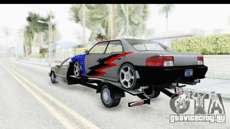 Limousine Auto Transporter для GTA San Andreas вид сзади слева