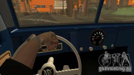 Jeep Station Wagon 1959 для GTA San Andreas вид изнутри