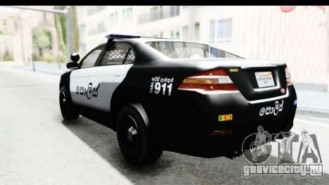 Sri Lanka Police Car v1 для GTA San Andreas вид слева