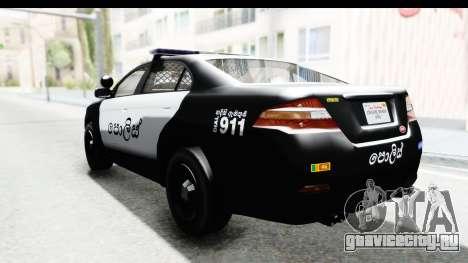 Sri Lanka Police Car v1 для GTA San Andreas вид слева