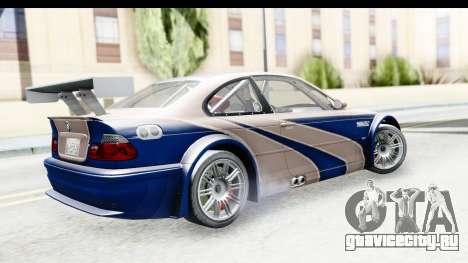 NFS Carbon - BMW M3 GTR для GTA San Andreas вид слева