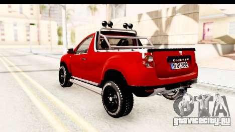 Dacia Duster Pickup для GTA San Andreas вид слева