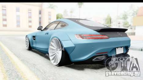 Mercedes-Benz AMG GT Prior Design для GTA San Andreas вид сзади слева