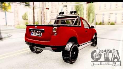 Dacia Duster Pickup для GTA San Andreas вид сзади слева