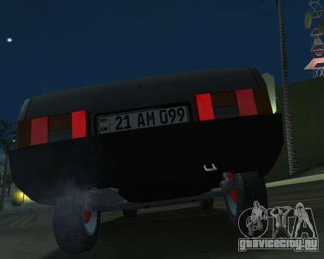 Vaz 21099 ARMNEIAN для GTA San Andreas вид сзади