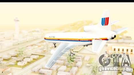 Lockheed L-1011-100 TriStar United Airlines для GTA San Andreas вид слева