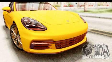 Porsche Panamera 4S 2017 v3 для GTA San Andreas вид изнутри