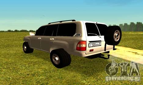 Toyota Land Cruiser 105V для GTA San Andreas вид слева