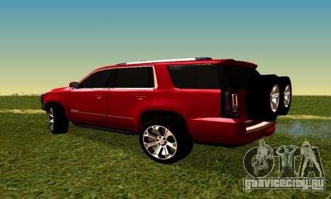 GMG Yukon 2015 для GTA San Andreas вид слева